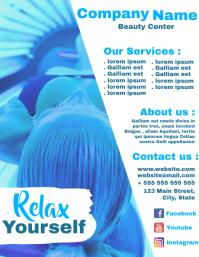 Beauty Center flyer advertisement