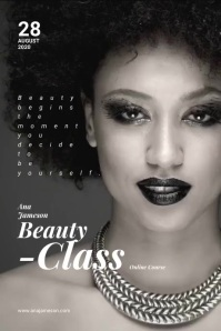 Beauty Class Flyer Plakkaat template