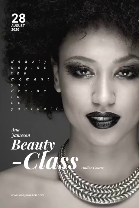 Beauty Class Flyer Plakat template