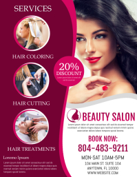 Beauty Flyer (US Letter) template