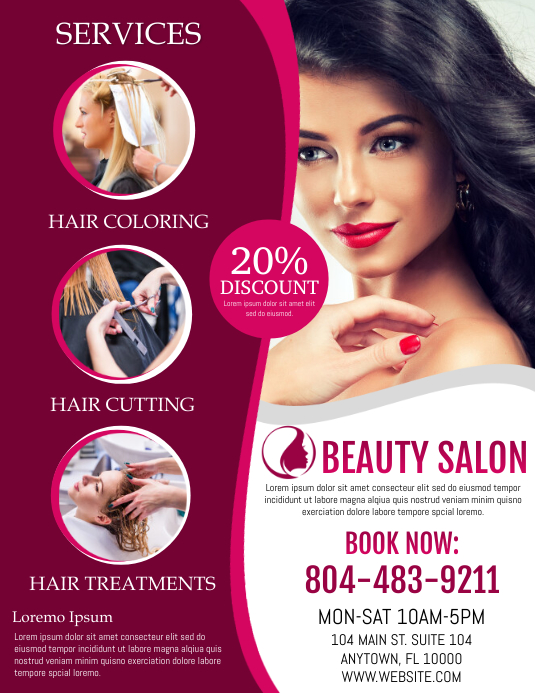 Beauty Flyer (US-Letter) template