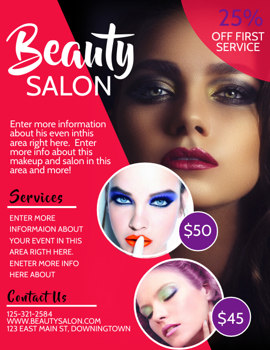 BEAUTY Pamflet (VSA Brief) template