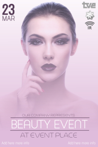 beauty event flyer template
