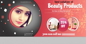 Beauty facebook cover template