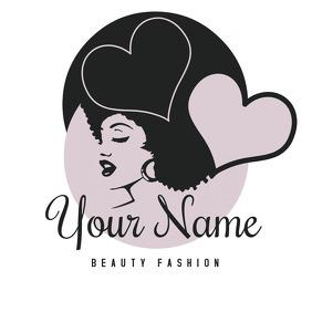 Beauty Fashion Salon Logo Template