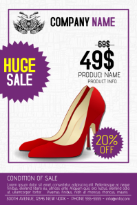 beauty fashion shoes multipurpose flyer sale retail template
