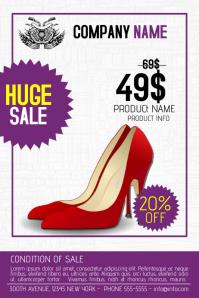 beauty fashion shoes multipurpose flyer sale retail template