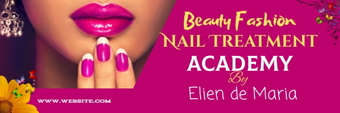 Beauty fashion treatmet Twitter cover template