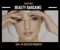 BEAUTY FLASH Sale / Promo Medium Rectangle template