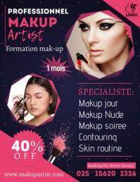 Beauty Flyer Folheto (US Letter) template