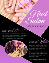 Customizable Design Templates For Nail Salon Postermywall