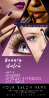 Beauty Hair Salon Purple Roll Up Banner Spanduk Gulir Atas 3' × 6' template