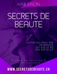 Beauty Hair Spa Salon Flyer Template