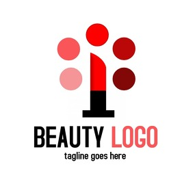 Beauty logo with lipstick