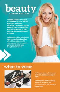 Beauty Magazine Templates Tabloid