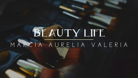 beauty make up blog header design template Blogkop