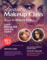 Beauty Makeup Class Flyer