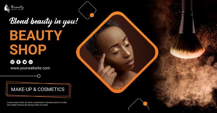 beauty makeup รูปภาพที่แบ่งปันบน Facebook template