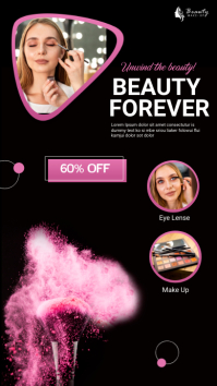 beauty makeup Instagram Story template