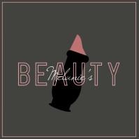 Beauty Makeup Lipstick Logo Template
