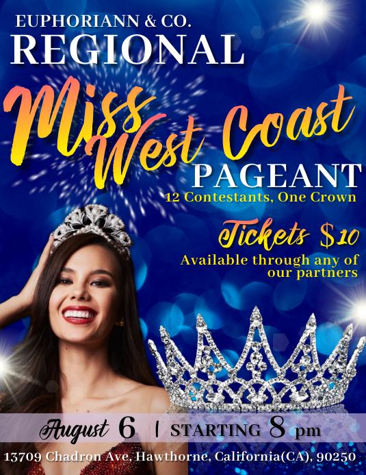 Beauty/Pageant Contest Flyer 传单(美国信函) template
