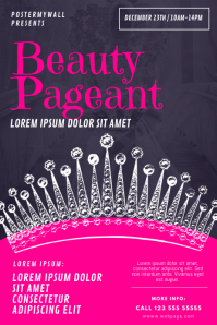 Beauty Pageant Flyer Design Template