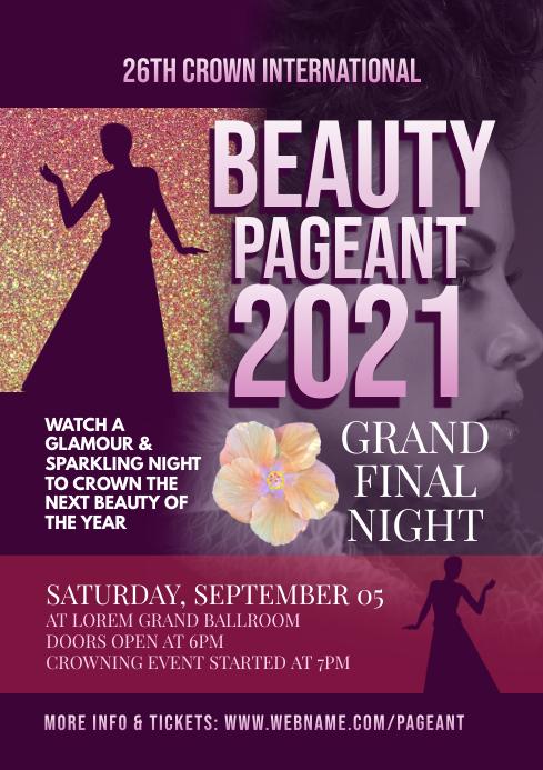 beauty pageant flyer