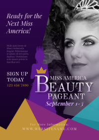 Beauty Pageant Flyer A4 template