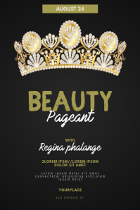 Beauty pageant flyer template