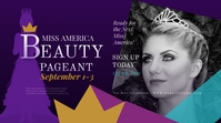 Beauty Pageant Twitter Post template