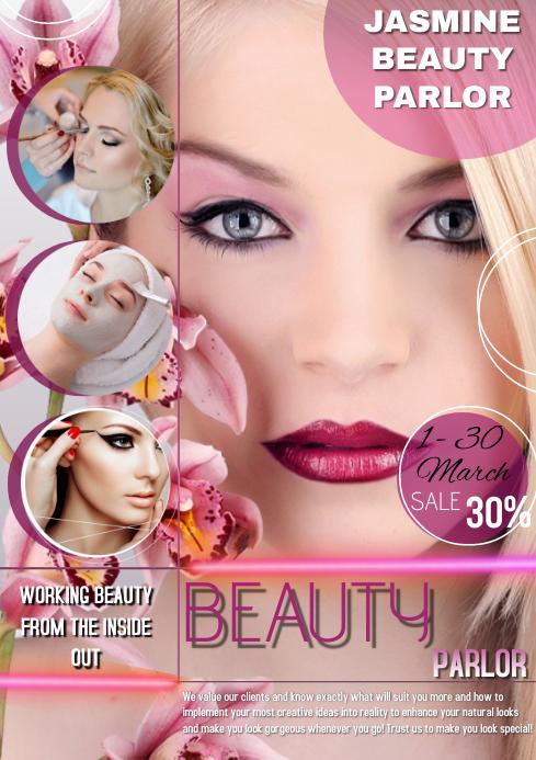Beauty Salon Flyer Free Customize A4 template