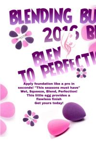 Blending Buds Beauty Poster