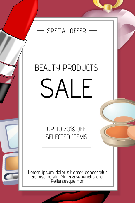 beauty products sale flyer