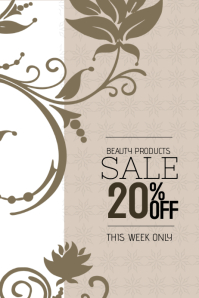 Beauty products sale poster