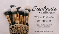 Beauty Profession Business Card with Brushes Carte de visite template
