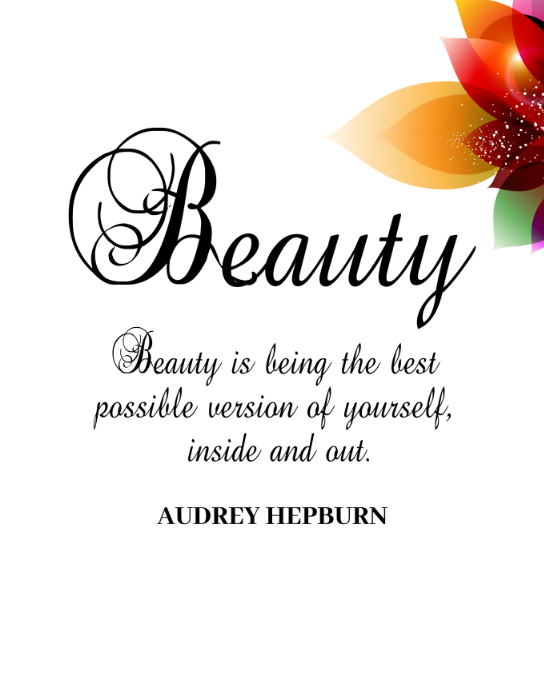 Beauty Quote Printable โปสเตอร์/กระดานบนผนัง template