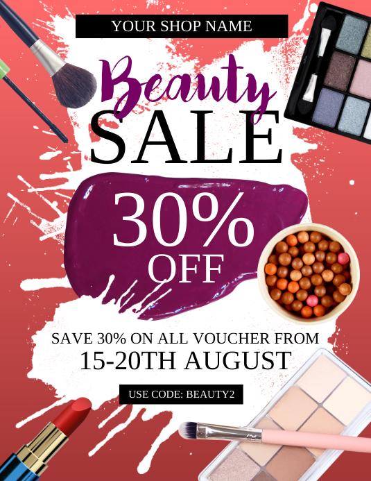 Beauty Sale Flyer