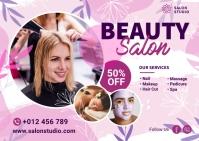 Beauty Salon & Spa Banner Postcard template