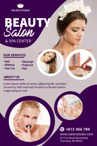 Beauty Salon & Spa Flyer Design Banner 4 × 6 Fuß template