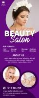 Beauty Salon & Spa Roll Up Banner template