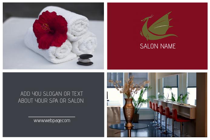 beauty salon, massage or spa poster template landscape