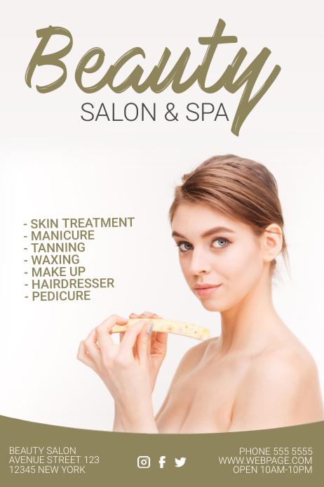 beauty salon and hair salon flyer template