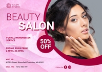Beauty Salon Banner Ad Postcard template