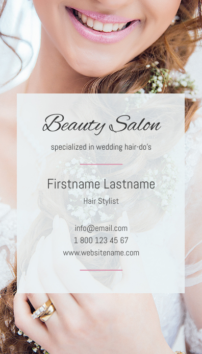 Beauty Salon Business Card - wedding edition