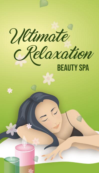 beauty salon business card Ikhadi Lebhizinisi template