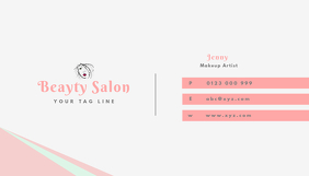 beauty salon business card tempalte