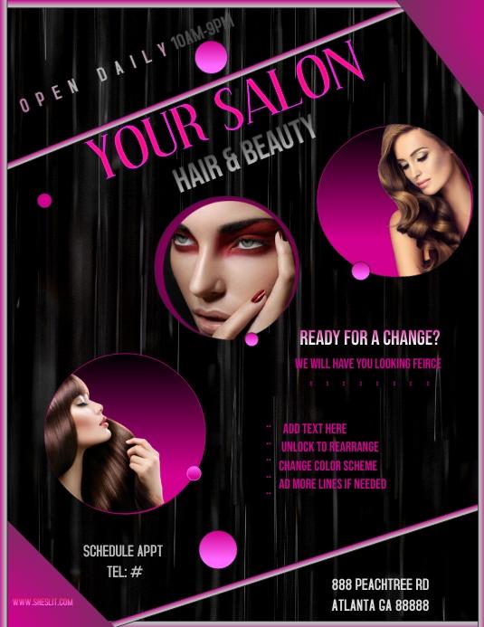 Beauty Salon by P88 Flyer (US-Letter) template