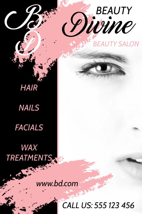 Beauty Salon Plakat template