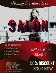 BEAUTY SALON Flyer (US Letter) template