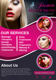 Beauty salon A4 template
